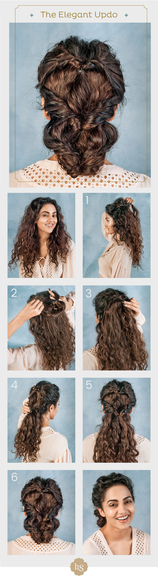Easy hairstyles for long hair curly hair hairsutras you only need a few bobby pins and hair elastics to style your curly hair here is one of the easy hairstyles for long hair that you can do yourself solutioingenieria Gallery