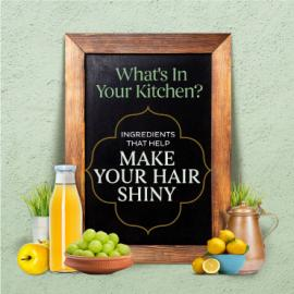 What's in your kitchen to make your hair shiny?