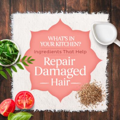 What's in your kitchen to repair damaged hair?