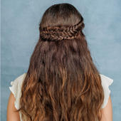 The Half French Braid
